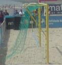Baliza Futebol Praia metálica, oficial (un)
