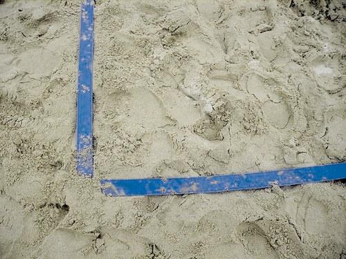 Banda de delimitação com 10 cm, Futebol Praia