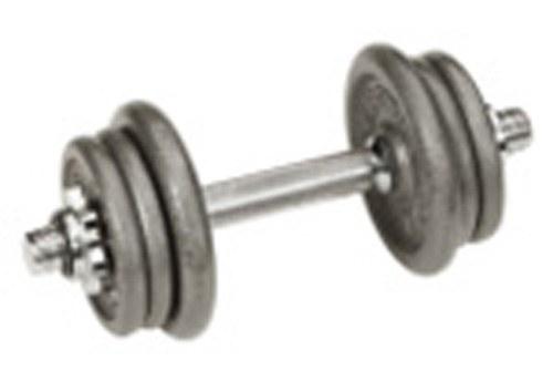 Conjunto de pesos 18 Kg (2x1,75kg,2x2kg,2x2,5kg) c/ barra