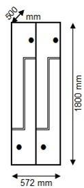 Cacífo Fenólico (porta em L) 4 porta, 2 módulo