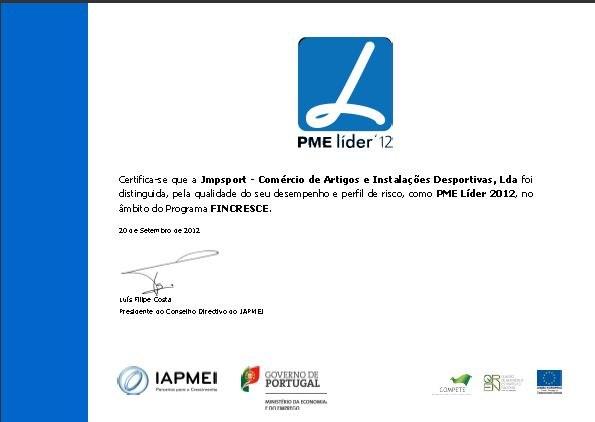PME LIDER  2012- JMPSPORT CERTIFICADA